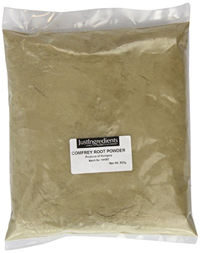 JustIngredients Beinwellwurzel Pulver, Comfrey Root Powder, 1er Pack (1 x 500 g)