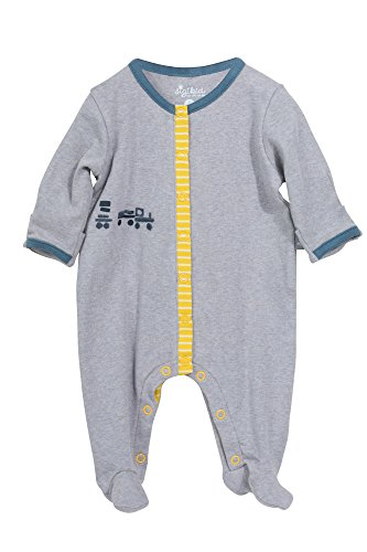 Sigikid Baby-Jungen, New Born Strampler, Grau (Melange 97), 56