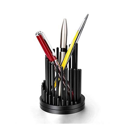 Titular de la pluma Almacenamiento de la pluma giratoria rápida, soporte de lápiz de metal, descompresión de escritorio Pen Barrel Barrel Suministros de oficina, pueden personalizar regalos de letras