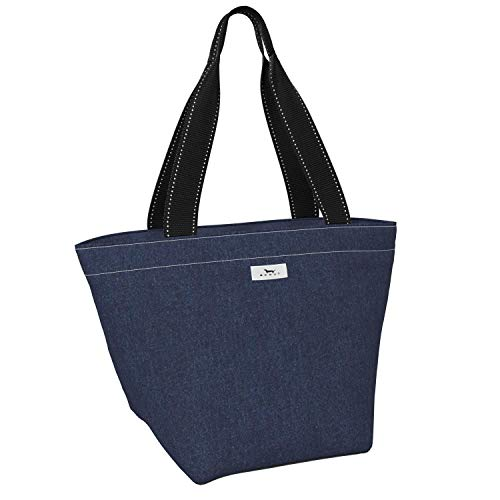 SCOUT Daytripper Shoulder Bag for Women, Lightweight Everyday Tote Bag or Beach Bag in Denim Pattern (Multiple Patterns Available)
