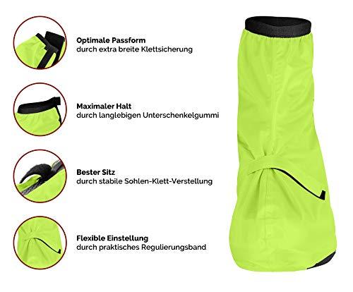 CYCLEHERO Überschuhe Fahrrad (Gelb, 36-39) Regenüberschuh wasserdicht inkl. Reflektor-Streifen, Größenregulierung und Stabiler Lauffläche für Herren und Damen - Regengamaschen Outdoor Unisex - 3