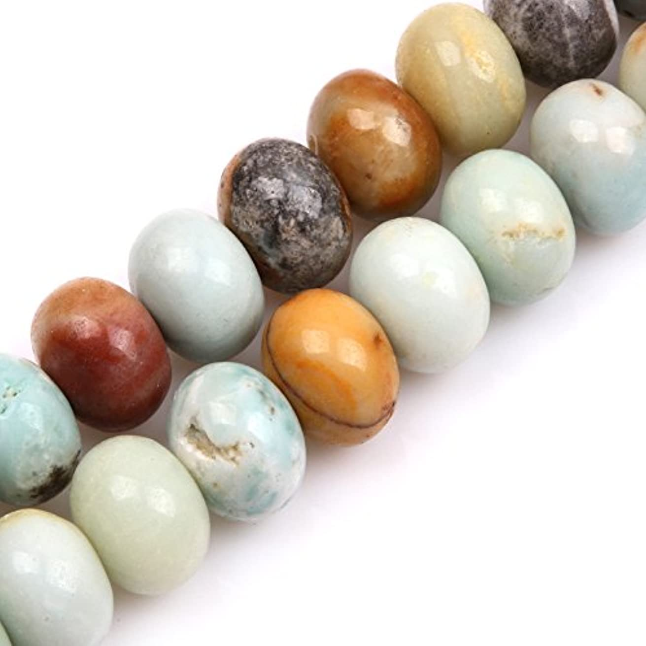 GEM-inside Amazonite Gemstone Loose Beads Natural Energy Power Beads For Jewelry Making 13x18mm Rondelle 15 Inches