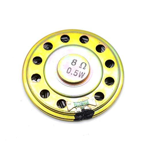 5pcs 8ohm 0.5W Altavoz de bocina 50MM 5CM de diámetro 8R 0.5W Altavoz pequeño