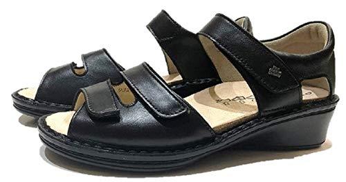 [フィンコンフォート] Finn Comfort レディース サンダル サイズ23.3cm(UK4) 品番82655 品名FES-S フェス ドイツ最高級コンフォート 外反母趾 (ブラック(014099))