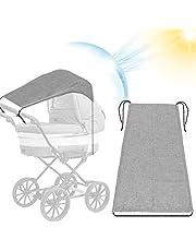Uniwersalny wózek przeciwsłoneczny do wózków dziecięcych, wózka dziecięcego i wózka podróżnego, wózek przeciwsłoneczny z ochroną UV 50 +, roleta zaciemniająca do parasola (szara)