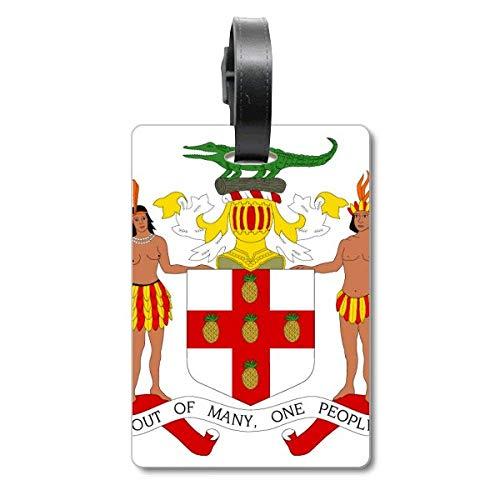 Emblema nacional de Jamaica de América del Norte para maleta, etiqueta de equipaje para colgar