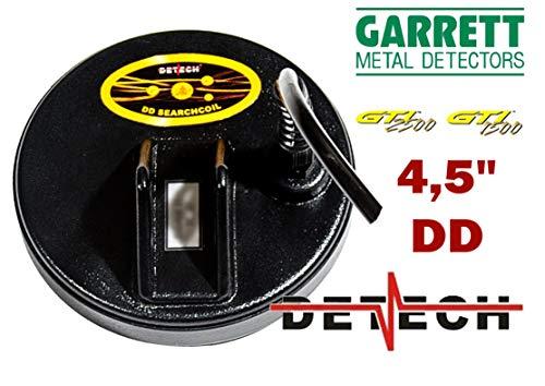DETECH Excelerator 4,5' DD Bobina para Garrett GTI 1500 y Garrett GTI 2500 con la Bobina Cubierta incluida