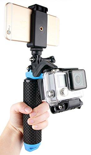 DURAGADGET Soporte/Mango Flotante con gatillo para cámaras Deportivas Excelvan Q3 / Q5 / DV Y8 / Elephone ELE CAM Explorer y Smartphones