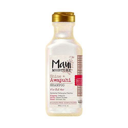 Maui Moisture Shine + Awapuhi Moisturizing Vegan Shampoo with Coconut Oils for Shiny Hair,...