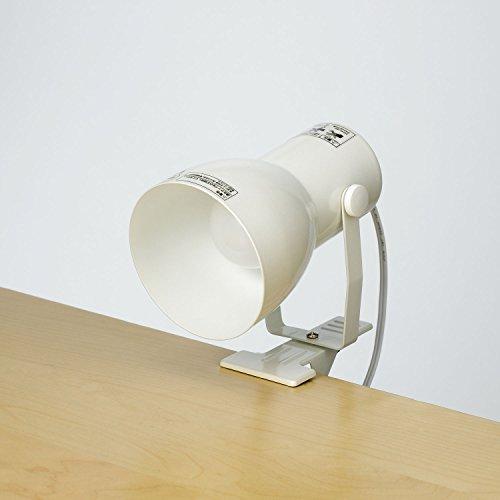ELPA (エルパ) クリップライト 便利な中間スイッチ付 店舗照明 デスクライトにおすすめ SPOT-BNE26C(PW)