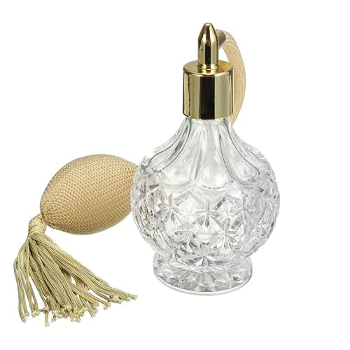 Topxome 80ml Clear Crystal Vintage Perfume Bottle Glass Container...