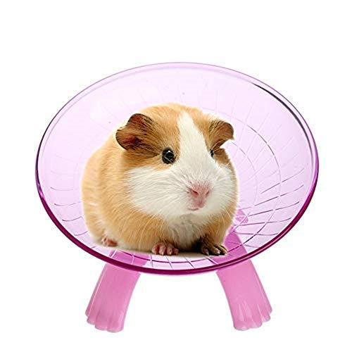 Uteruik POM-1 Laufrad für Kleintiere, geräuschloser Spinner für Haustiere, syrische Hamster, Ratte, Rennmäuse, Chinchilla, Meerschweinchen, Eichhörnchen, etc.