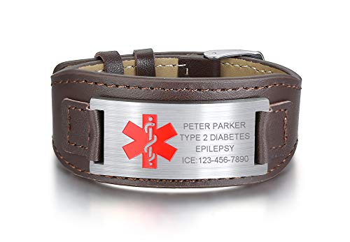 XUANPAI Personalized Customized Stainless Steel Emergency Medical Alert...