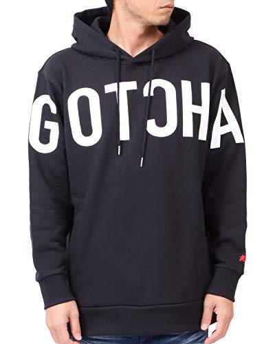 [ガッチャ] GOTCHA フーディー ビッグロゴ プルオーバー パーカー 203G1301 ブラック L