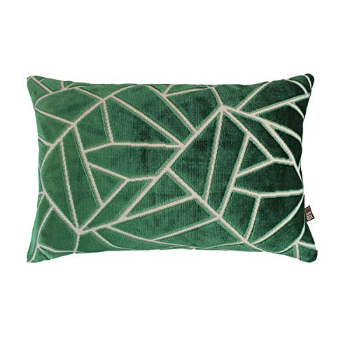 Scatter Box Veda Velour Feather Filled Cushion, Green, 35 x 50 Cm