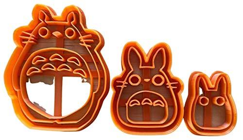 Totoro, Chu, Chibi Cookie Cutter Set - 3d printed plastic