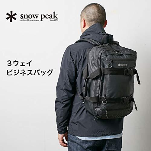 snowpeakスノーピーク3ウェイビジネスバッグブラック