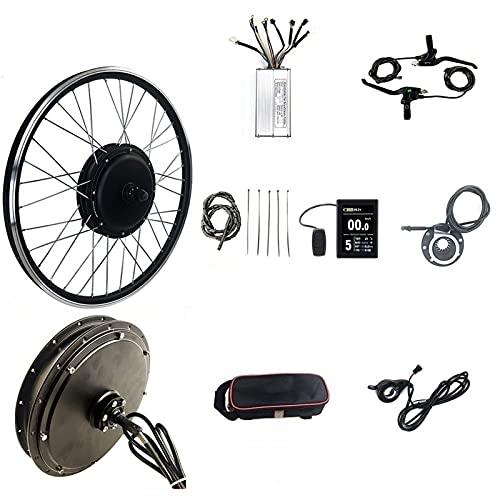 SKYWPOJU 48V 1500W 20'/24'/26'/27.5'/28'/29er/ 700C Kit di conversione Bici elettrica Ruota Posteriore con Display LCD8S e Controller 35A (Color : Spinning flywheel, Size : 28')