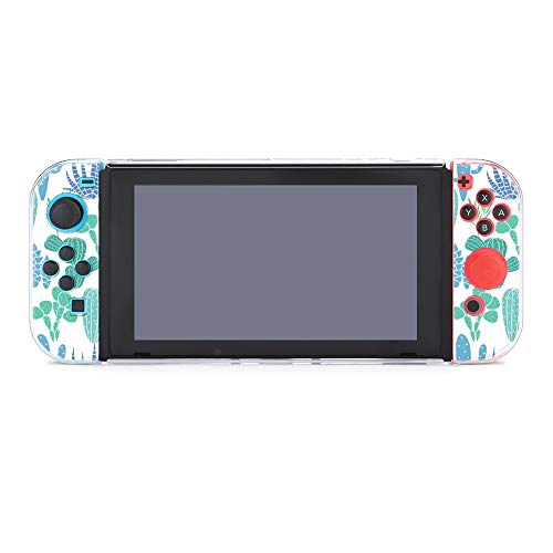 Case for Nintendo Switch Succulents Plant Five-Pieces Set Protective Cover Case Compatible with...