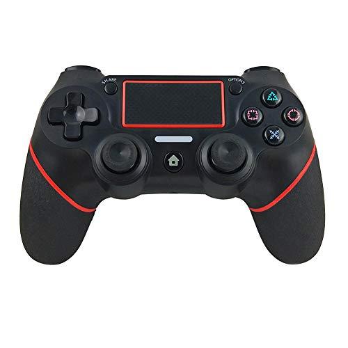 LAYA Wireless Controller für PS4, Gamepad für Playstation 4 / Playstation 3 / PC, Shock Hochleistungs-Gamepad Joystick Schwarz-roter Streifen