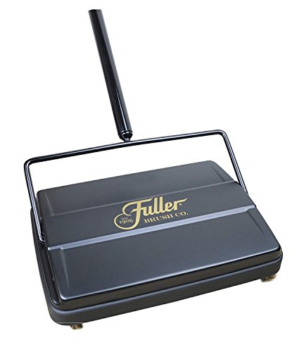 Fuller Brush 17027 Electrostatic Carpet & Floor Sweeper - 9' Cleaning Path - Lightweight - Ideal for Crumby Messes - Works On Carpets & Hard Floor Surfaces - Black