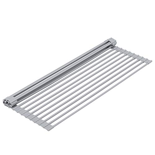 20.5'' x 13'' Over the Sink Roll-up Dish Drying Rack for...
