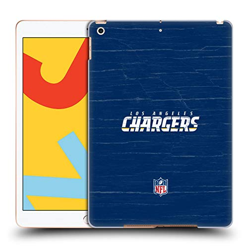 Official NFL Distressed Look Los Angeles Chargers Logo Hard Back Case Compatible for Apple iPad 10.2 (2019)/(2020)