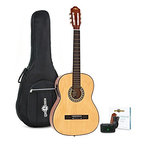 Set de Guitarra Clasica Electroacustica de Gear4music Natural ...