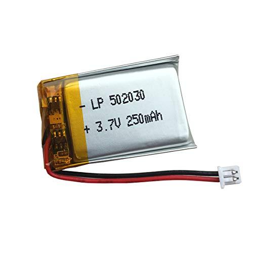 3,7v Ersatz Akku 250 mAh - 502030 Batterie für VXI BlueParrott B250-XT, B250-XT+ kabelloses Bluetooth Headset, Schlüsselanhänger Cam 808 und mehr