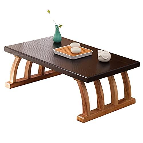 Tavolo Tatami in Legno Massello Tavolino Basso Zen in Stile Giapponese Mini Tavolino da caffè sul Davanzale della Finestra Piccola Scrivania da Studio Durevole (Size : 60x40x30cm)