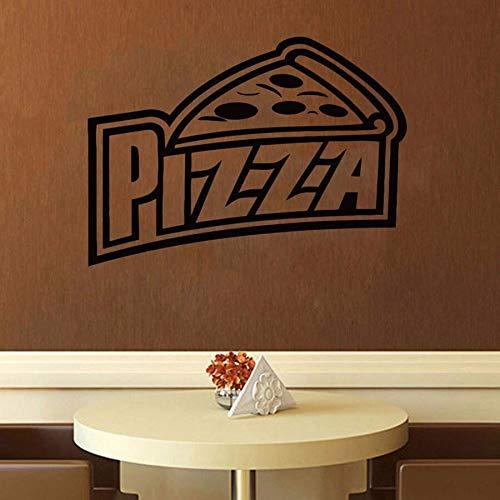 Etiqueta de la pared de la pizza etiqueta de la puerta de la ventana comida italiana Pizza cocina italiana restaurante occidental decoración de interiores vinilo etiqueta de la pared