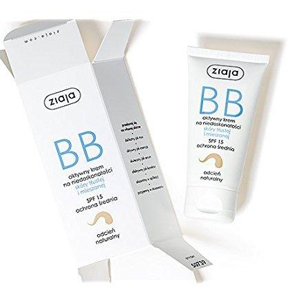 Ziaja BB Creme für fettige Haut und Mischhaut Creme, Natürliche Tönung, 50 ml