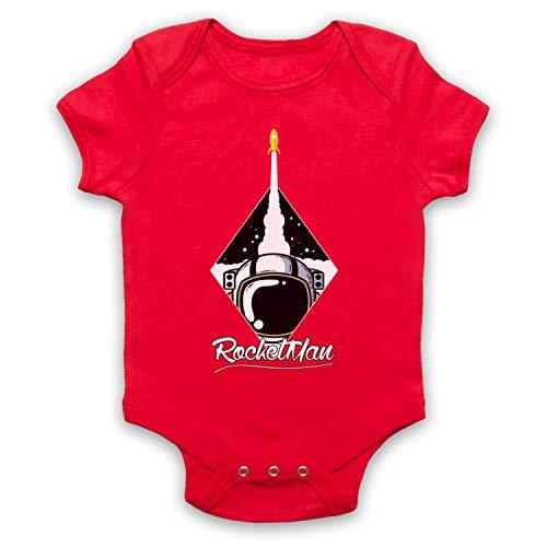My Icon Art & Clothing Rocketman Rocket Astronaut Space Lover Bébé Barboteuse Bodys, Rouge, 3-6 Mois