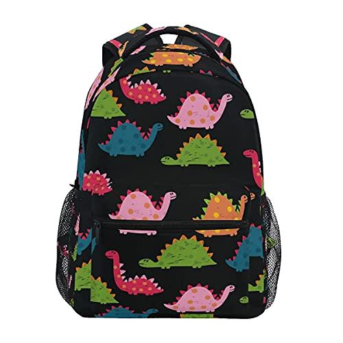 Mochilas para niñas con diseño de dinosaurios arcoíris para niñas y niños, mochila de viaje, bolsa de hombro para portátil