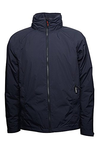 TOIO - Schooner Waterproof Jacket Deep Navy Small Waterproof, Breathable Technical Jacket with Primaloft Padding and thermowelded Seams