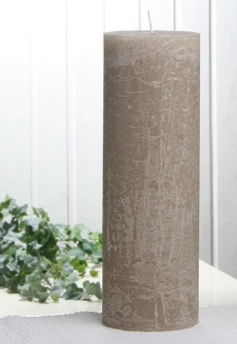 Rustik-Stumpenkerze, 30 x 10 cm Ø, sand