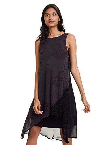 Desigual Damen DRESS KEIRA Kleid, Schwarz (Negro 2000), 36 (Herstellergröße: 38)