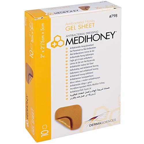 Medihoney – Antibakterieller Honig-Gelverband 5 x 5 cm (10 Stück)