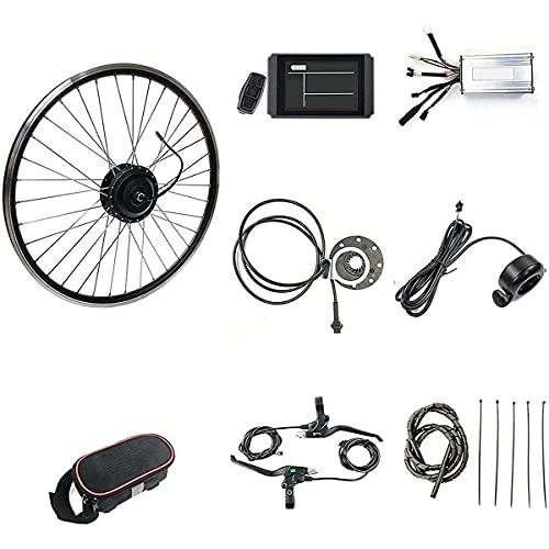 CHEIRS Kit de Motor de Bicicleta eléctrica, 36V / 48V 500W 20'/ 24' / 26'/ 27.5' / 28'/ 29' / 700C Motor de Rueda Trasera de Bicicleta eléctrica con Pantalla LED,48V-27.5INCH