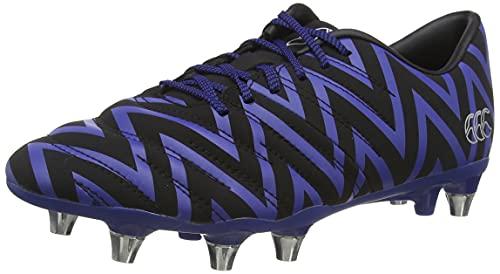 Canterbury of New Zealand Unisex Adult's Phoenix 2.0 Soft Ground Rugby Boots, Black (Black/Mazarine Blue Adult Unisex), 7 (41.5 EU)