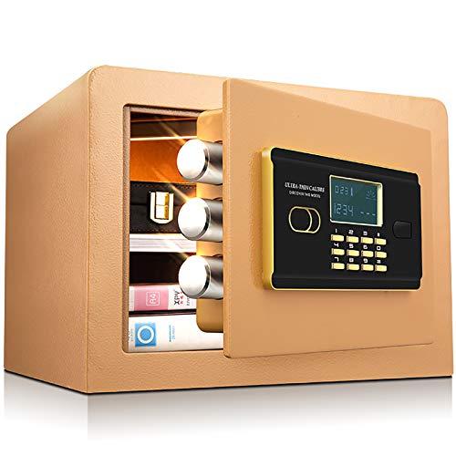 CLING Caja Fuerte de Seguridad para el hogar, pequeña Huella Dactilar, antirrobo y antirrobo, Invisible, montado en la Pared, Completamente de Acero, con Tres cerrojos, Oficina, 26 cm
