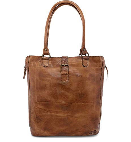 Bed|Stu Mildred Crossbody Tote Bag for Women - Convertible Leather Tote Bag for Travel and Work - Tan