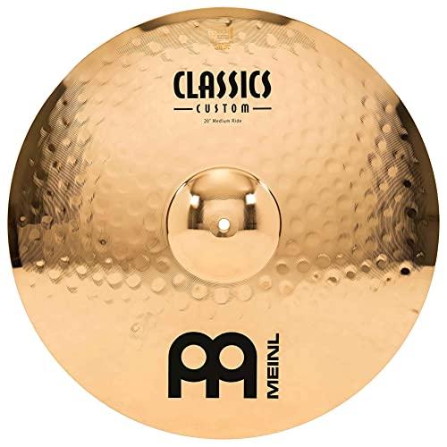 Meinl Classics Custom Brilliant 20 Zoll (50,80cm) Medium Ride Becken für Schlagzeug – B10 Bronze, brilliantes Finish (CC20MR-B)