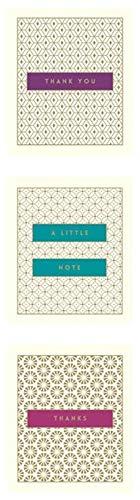 The Art File - Thank You Notecards - Set van 12 kleine notitieboekjes en enveloppen afgewerkt met gouden folie