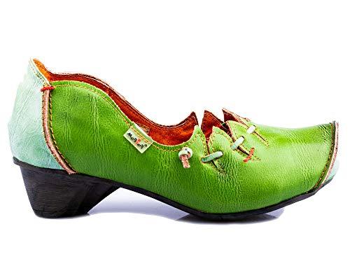 TMA 8787 Damen Pumps Leder grün - EUR 42