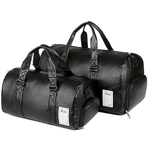 CYBS Bolsa de deporte con compartimento para zapatos, impermeable, grande, para entrenamiento, deporte, viaje, para fin de semana, para hombres y mujeres.