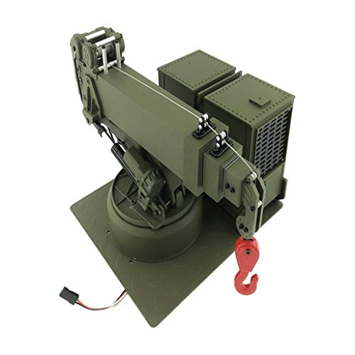 Bonarty 1/12 Crane Lifting Arm Assembly for HG P802 RC US Army Military Truck