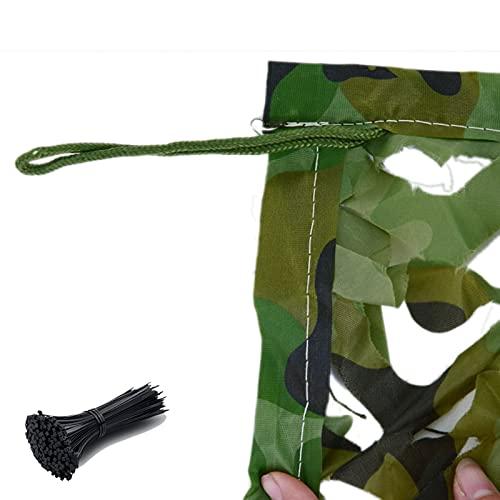 Tela Camuflaje Sombra - Malla Camuflaje Caza Corbatas De Cables De Camuflaje Y Nylon De Woodland Netificación De Camuflaje A Prueba De Agua Oxford Para Cubierta Jardín De Caza Fie(Size:2×3m/6.6×9.8ft)