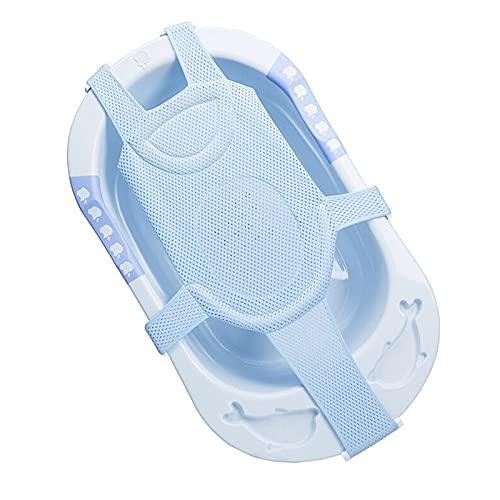 Red de baño para bebé, cama para estanque Hamaca portabebés de malla, soporte de asiento de baño, alfombrilla de bañera para bebés de 0 a 18 meses para jugar en el agua.