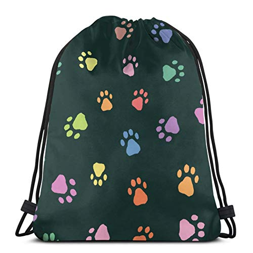 Color Animal Prints Drawstring Bags Gym Bag Travelling Portable